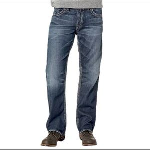 Silver Jeans Gordie Taper Leg Dark Wash 31